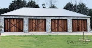 western red cedar barn style tilt door