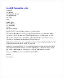 Heartfelt Resignation Letter