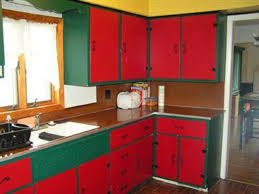 Painting The Kitchen Cabinets Painting Kitchen Cabinets Red Monsterlune