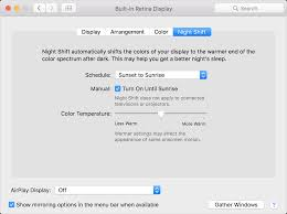 Blue Light Blocker For Macbook Pro How To Use Night Shift On Your Mac Apple Support
