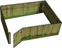 Pictures of wooden fences Contemporary Wooden Fences Peter A Kirschkorff Wooden Fences Paper Model Daves Games