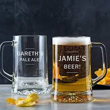 personalised beer tankard personalised pint gl beer gifts for men dad personalised anniversary