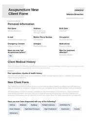 Acupuncture Medical Consent Template Pdf Templates Jotform