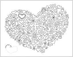 Small Picture 77 best mandala heart images on Pinterest Drawings Coloring