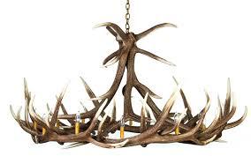 elk 9 cast antler chandelier