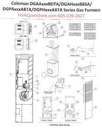 Dgaa077bdta Coleman Gas Furnace Parts Hvacpartstore