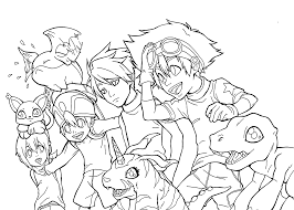 Small Picture free anime coloring pages digimon character Gianfredanet