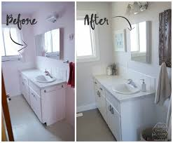Cheap Bathroom Makeover Cool Remodelaholic DIY Bathroom Remodel On A Budget And Thoughts On