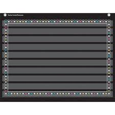 Chalkboard Brights 10 Pocket 17x22 Pocket Chart By Teacher Created Resources