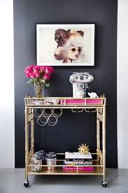 office coffee cart. Coffee Cart Against Black Accent Wall Office T