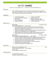 Teaching Resume Template Impressive Resume Template For Teachers Resume Templates Design Cover