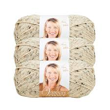 Lion Brand Vannas Choice Bulk Buy Yarn 3 Pack Oatmeal 860 400