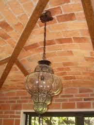 art glass lighting fixtures. Large Blown Glass Lamp In Old Dining Room Art Lighting Fixtures L