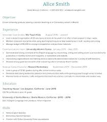 Writing Teacher Cv Resume Examples For Teaching Sample Job Education ...