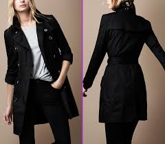 black trench coat by burberry as cotton collection with check undercollar 578x504 cotton trench coat by
