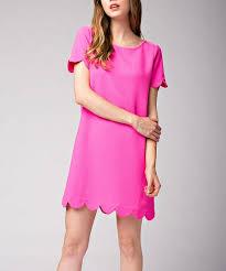 Mittoshop Hot Pink Scallop Shift Dress Zulily