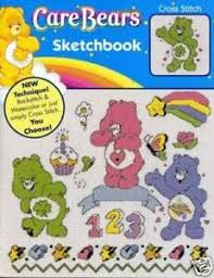 Details About Care Bears Sketchbook Cross Stitch Chart Pattern Craft Pamphlet Out Of Print