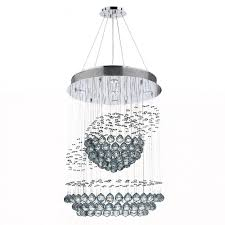 saturn collection 5 light chrome finish and clear crystal galaxy chandelier 22 d x 30