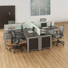 Office workstation desk Organized At Work Four Person Compact Workstation Set 46449 National Business Furniture Modular Office Furniture Workstations Nbfcom
