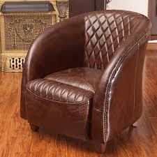 best ing home decor rahim modern brown genuine leather club chair