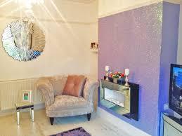 accessorise with glitter wallpaper