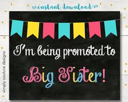 Pregnancy Announcement Printables Free Printable Baby Big Sister Pregnancy Announcement