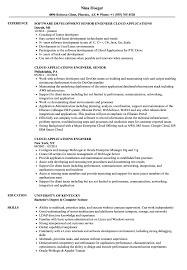 Cloud Applications Engineer Resume Samples Velvet Jobs