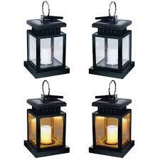andefine hanging solar lanterns outdoor led umbrella lights waterproof candle lamps hang on patio umbrella shepherd s hooks tree yellow light pack of 4