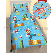 Mario Bedroom Official Nintendo Super Mario Brothers Bedding Duvet Cover Sets