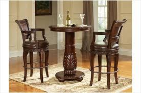 3 pc antoinette pub table set in cherry mahogany finish