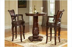 3 pc antoinette pub table set in cherry mahogany finish