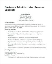 healthcare administration resume samples business administration resume  example healthcare administration resume objective examples