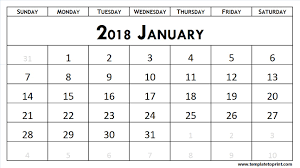 calendar january 2018 template 2018 calendar template printable january 2018 to december 2018