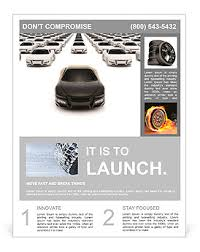 Car Dealership Flyer Templates Front View Of Black Sports Car Leaving The Pack With Hundreds White Flyer Template
