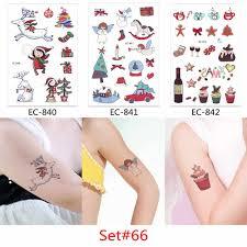 Glaryyears 3 шткомпл временная татуировка наклейка рождество поддельные татуировки