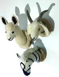 stuffed animal wall mounts stuffed animal wall mount giraffe elephant flamingo head plush toys bedroom decoration