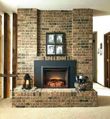 fake fireplace design modern traditional interior decor with artificial masonry insert black xmas decorating mod