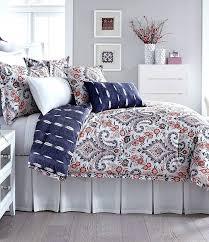 living quarters bedding southern living fl damask striped denim cotton comforter mini set living quarters bedding