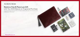 receive a free 8 pc gift with 125 multi brand purchase