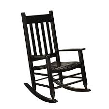 garden treasures black wood slat seat outdoor rocking chair