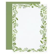 Elegant Watercolor Olive Leaf Frame Custom Blank Invitation