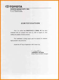 40 Employment Certificate Template Practicable Marevinho