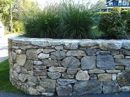 stone walls garden natural stone wall