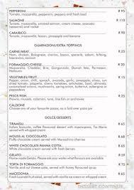 Italian Menu Delectable Topolinos Italian Restaurant Hazyview Mpumalanga South Africa
