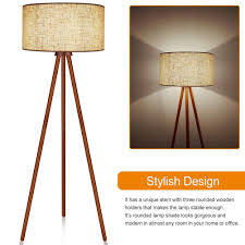 Classic Wood Floor Lamp With E26 Lamp Base Lepower
