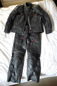 triumph h2 sport full leather suit waterproof leathers summer winter sz 42in chest 32in waist