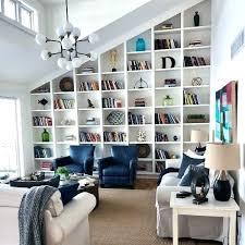 bookshelves in living room decor