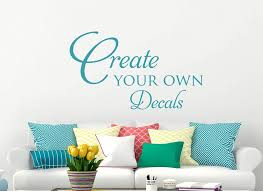 own wall sticker creating decals