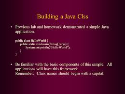 fundamental programming structures in java comments data types building a java clss previous lab and homework demonstrated a simple java application