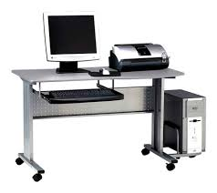 Industrial Computer Cabinet Mobile Computer Desk For Bedroom Adjustable Angle Height Mobile